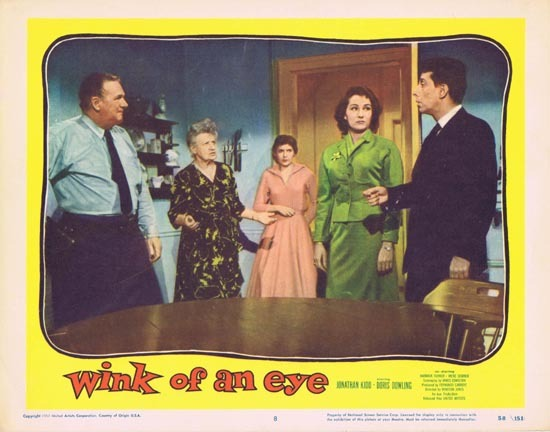 WINK OF AN EYE 1958 Lobby Card 8 Jonathan Kidd Doris Dowling