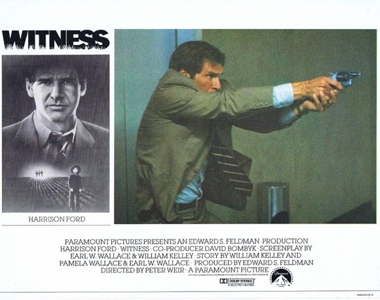 WITNESS Lobby Card 1 Harrison Ford