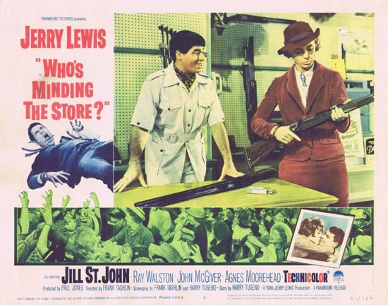 WHO'S MINDING THE STORE Lobby card 4 Jerry Lewis Nancy Kulp