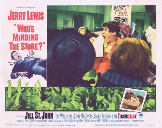 WHO'S MINDING THE STORE Lobby card 7 Jerry Lewis
