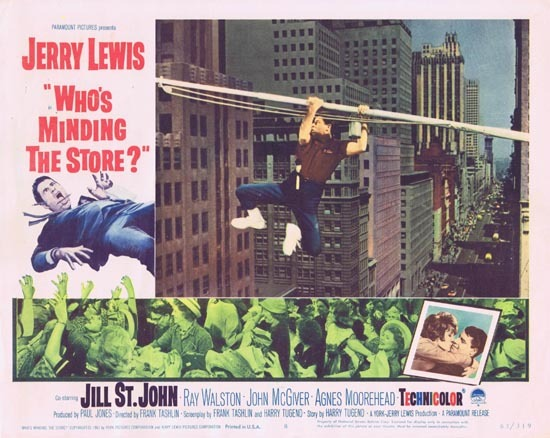 WHO'S MINDING THE STORE Lobby card 8 Jerry Lewis