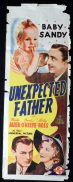 UNEXPECTED FATHER 1939 Baby Sandy LONG DAYBILL Movie poster