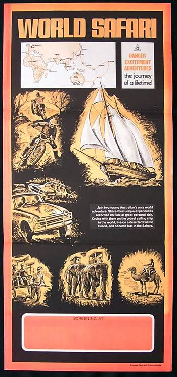 WORLD SAFARI Movie Poster 1977 Rare Country of Origin ALBY MANGELS Daybill Style B