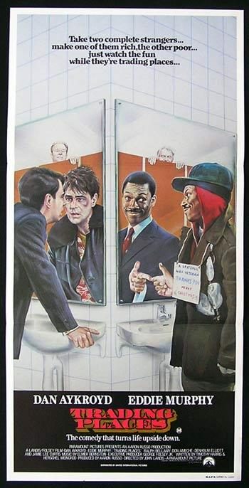 TRADING PLACES Daybill Movie poster 1983 Dan Aykroyd Eddie Murphy