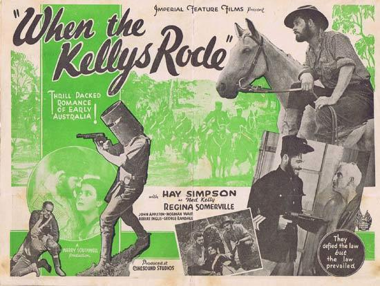 WHEN THE KELLY'S RODE Rare 1934 Australian Movie Herald Ned Kelly