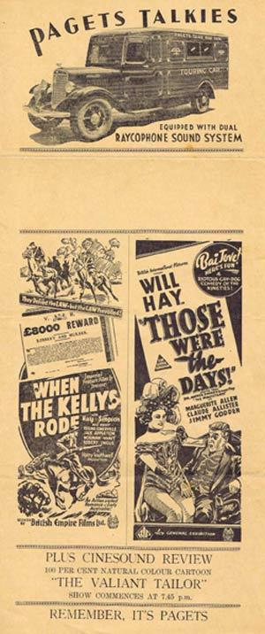 WHEN THE KELLY'S RODE Rare 1934 Australian Daybill Movie Flyer Ned Kelly
