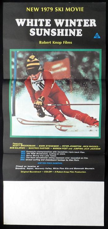 WHITE WINTER SUNSHINE Robert Knop Snow Ski RARE Daybill Movie poster