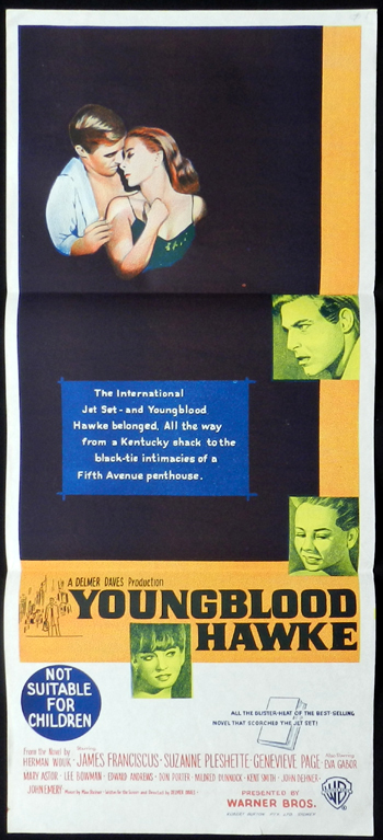 YOUNGBLOOD HAWKE James Franciscus RARE Daybill Movie poster