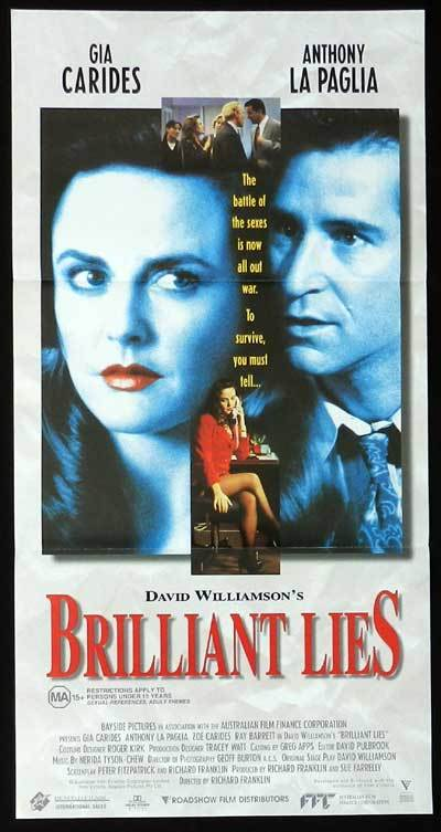 BRILLIANT LIES 1996 Australian Cinema Daybill Movie poster