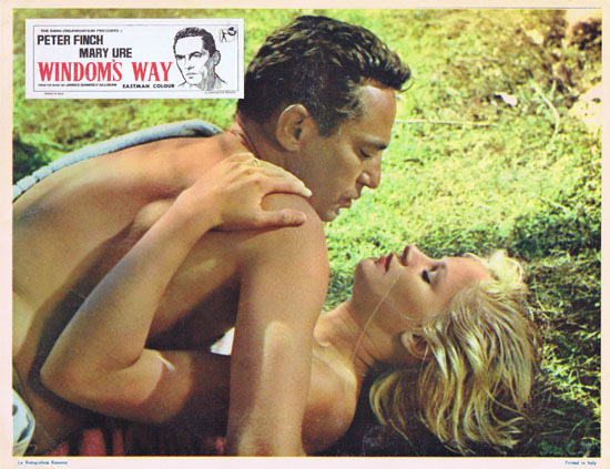 WINDOMS WAY 1957 Rare Peter Finch Lobby Card 3