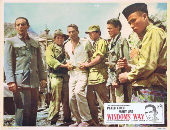 WINDOMS WAY 1957 Rare Peter Finch Lobby Card 7