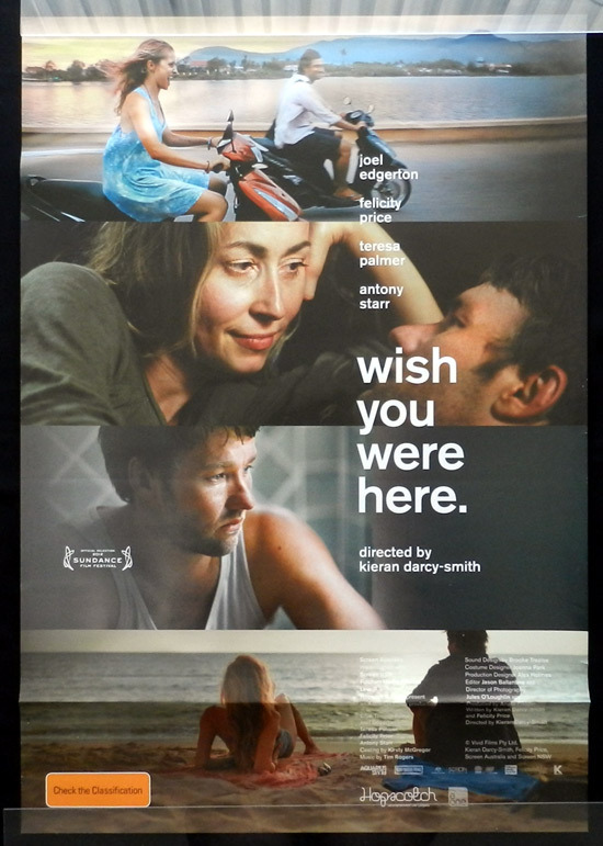 WISH YOU WERE HERE Original Movie poster Joel Edgerton Australian Cinema