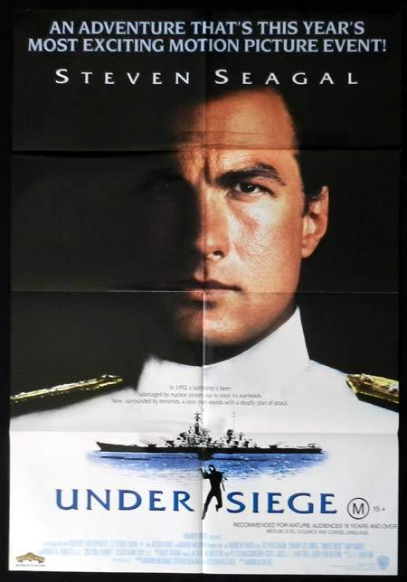 UNDER SIEGE 1992 Steven Seagal One sheet Movie Poster