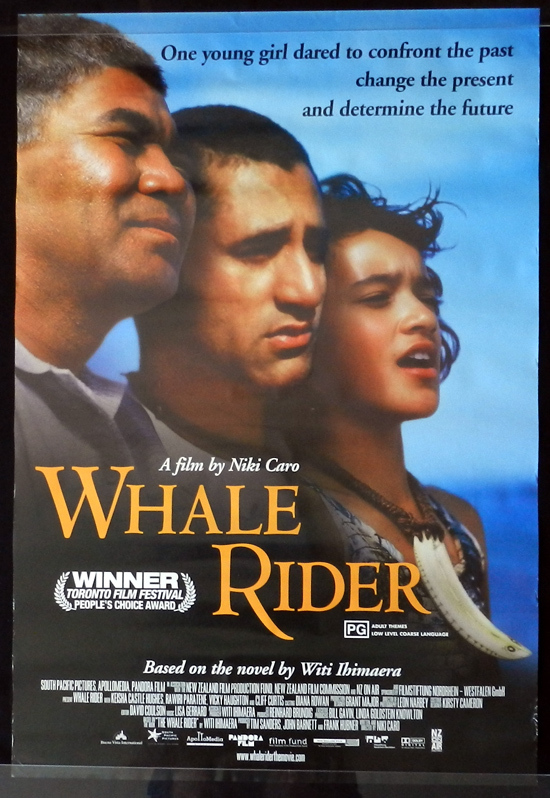 WHALE RIDER One sheet Movie poster New Zealand Cinema