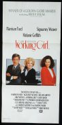 WORKING GIRL Australian Daybill Movie poster Harrison Ford Sigourney Weaver Melanie Griffith