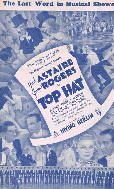 TOP HAT Fred Astaire Ginger Rogers VINTAGE Australian Movie Herald