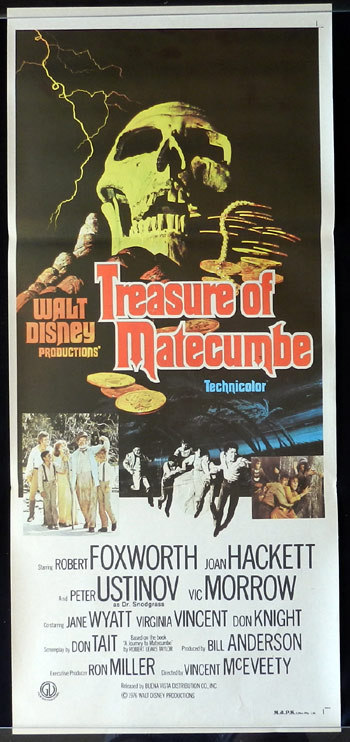 TREASURE OF MATECUMBE Original daybill Movie poster