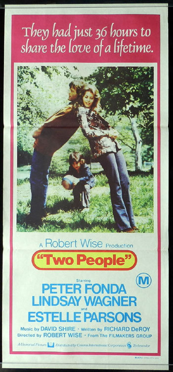 TWO PEOPLE Lindsay Wagner Robert Wise Daybill Movie poster