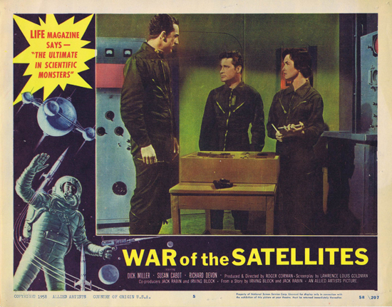 WAR OF THE SATELLITES Lobby Card 5 1958 Science Fiction Sci Fi