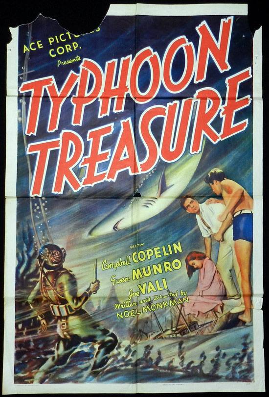TYPHOON TREASURE 1938 Australian Cinema VINTAGE Original Movie Poster