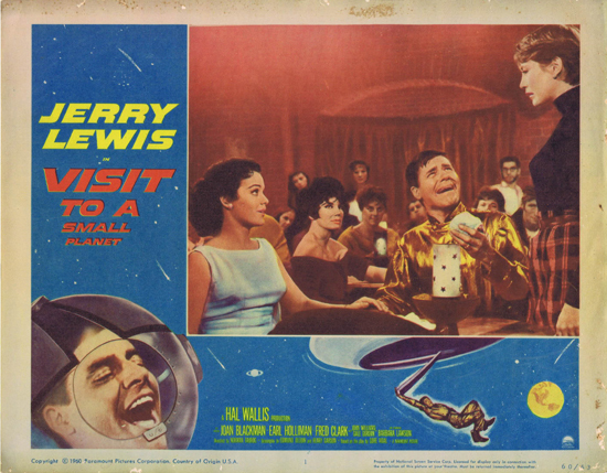 VISIT TO A SMALL PLANET Lobby Card 1 Jerry Lewis