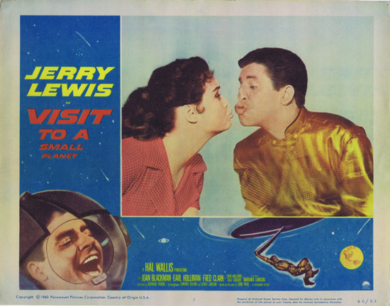 VISIT TO A SMALL PLANET Lobby Card 3 Jerry Lewis