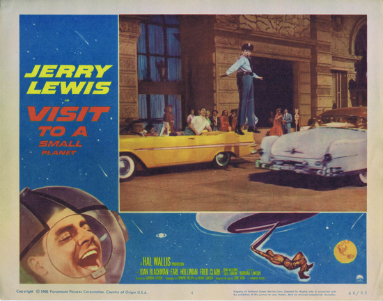VISIT TO A SMALL PLANET Lobby Card 4 Jerry Lewis