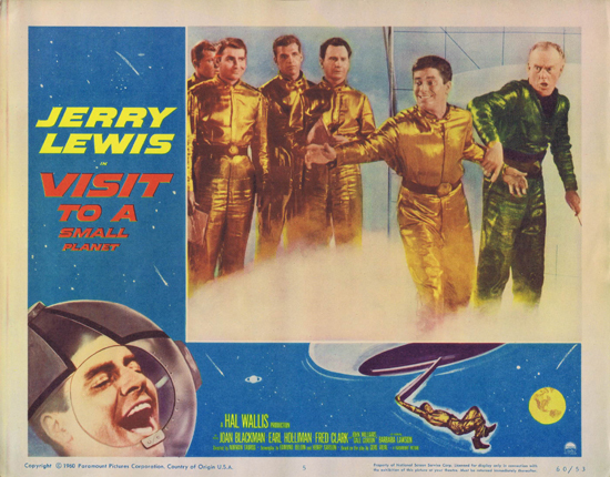 VISIT TO A SMALL PLANET Lobby Card 5 Jerry Lewis