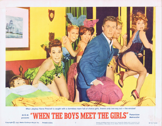 WHEN THE BOYS MEET THE GIRLS Lobby Card 7 Harve Presnell
