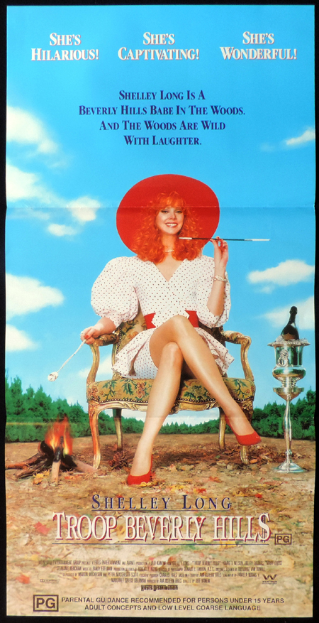 TROOP BEVERLY HILLS Shelley Long ORIGINAL Daybill Movie poster