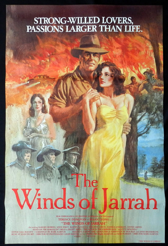 WINDS OF JARRAH Movie poster 1983 Steve Bisley Australian Cinema US One sheet