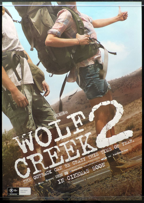 WOLF CREEK 2 Original Movie Poster 2013 John Jarratt Australian one sheet Advance
