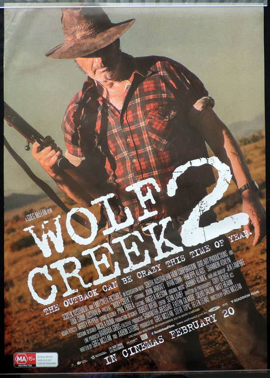 WOLF CREEK 2 Original Movie Poster 2013 John Jarratt Australian one sheet