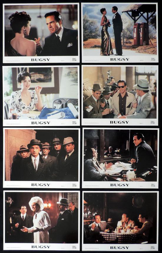 BUGSY Lobby Card set Warren Beatty Annette Bening Ben Kingsley