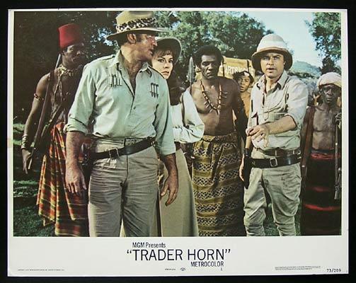 TRADER HORN Lobby Card 1 Rod Taylor