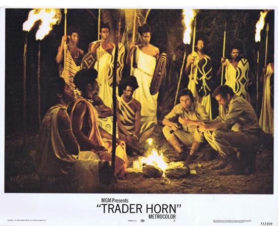 TRADER HORN Lobby Card 7 Rod Taylor