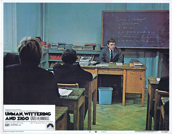 UNMAN WITTERING AND ZIGO Lobby Card 4 David Hemmings