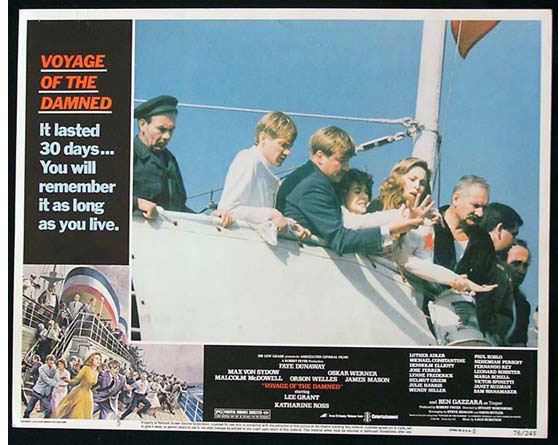VOYAGE OF THE DAMNED 1976 Faye Dunaway Lobby Card 5