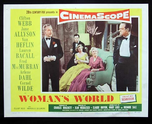 WOMAN'S WORLD Lobby Card 6 Lauren Bacall Clifton Webb June Allyson