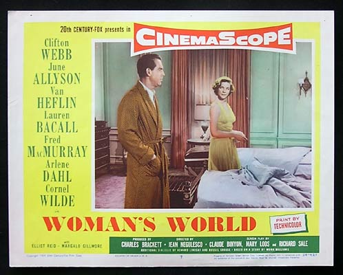WOMAN'S WORLD Lobby Card 7 Lauren Bacall Fred MacMurray