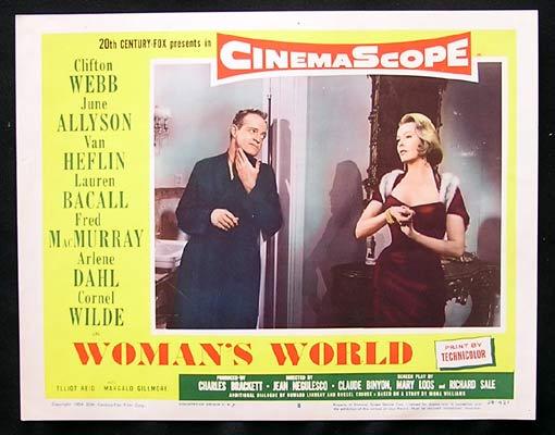 WOMAN'S WORLD Lobby Card 8 Van Heflin Arlene Dahl