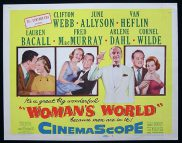 WOMAN'S WORLD Title Lobby Card Van Heflin Clifton Webb Lauren Bacall June Allyson