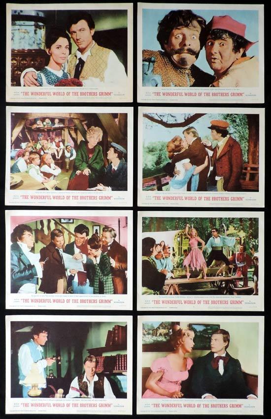 WONDERFUL WORLD OF THE BROTHERS GRIMM Lobby Card set Lawrence Harvey Terry-Thomas Buddy Hackett