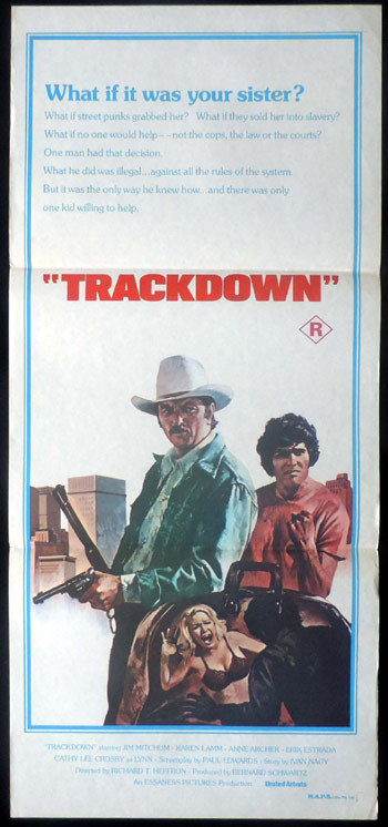 TRACKDOWN Daybill Movie poster James Mitchum Anne Archer