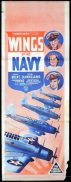 WINGS OF THE NAVY 1939 Long Daybill Movie Poster OLIVIA DE HAVILLAND John Payne