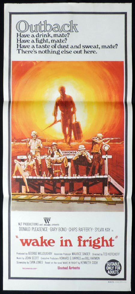 WAKE IN FRIGHT aka OUTBACK Daybill Movie poster Rare Chips Rafferty
