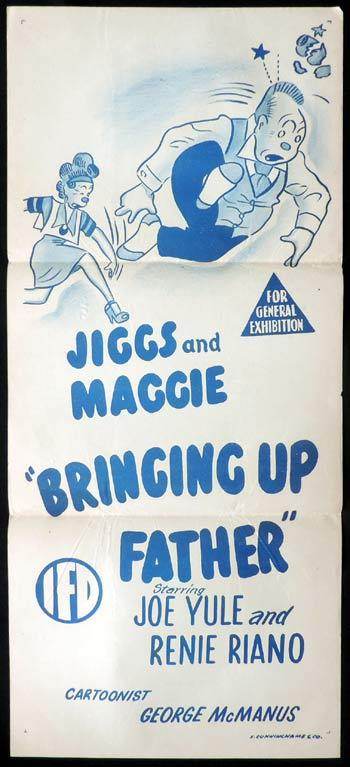 BRINGING UP FATHER Daybill Movie poster Jiggs and Maggie