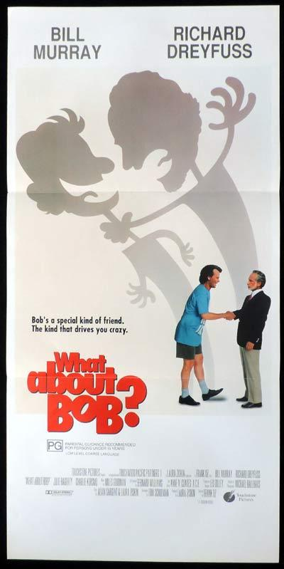 WHAT ABOUT BOB Daybill Movie poster Bill Murray