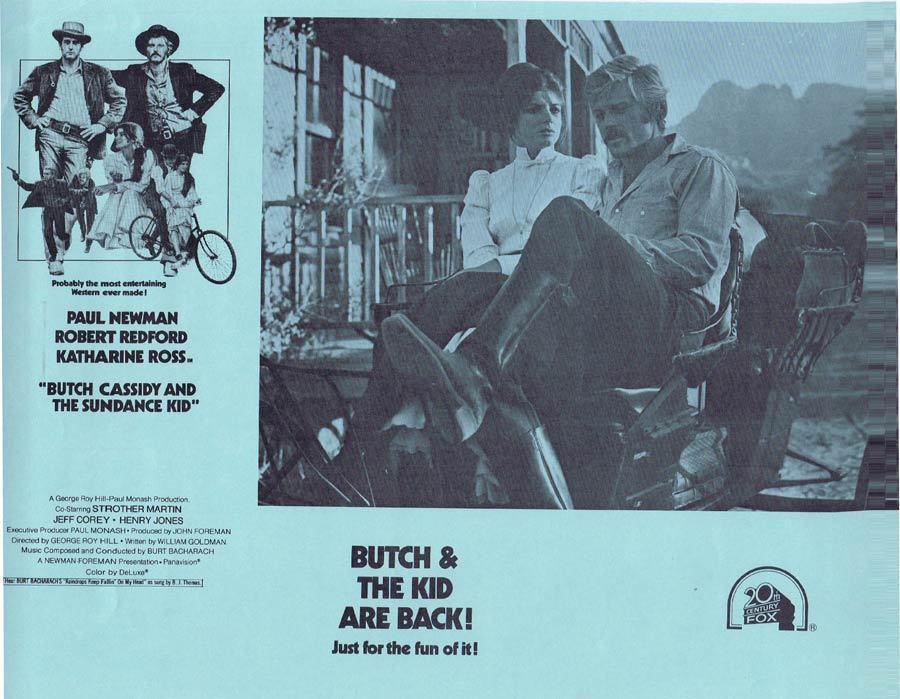 BUTCH CASSIDY AND THE SUNDANCE KID 1973r Australian Lobby card 2