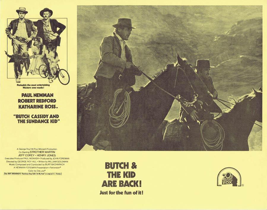 BUTCH CASSIDY AND THE SUNDANCE KID 1973r Australian Lobby card 6